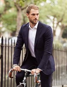 Men's Navy Slim Fit Travel Suit