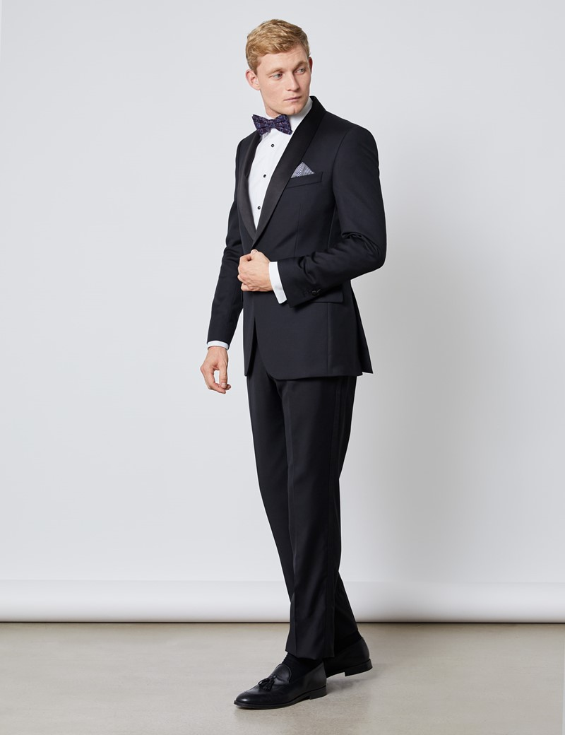 Men's Black Shawl Slim Fit Dinner Suit