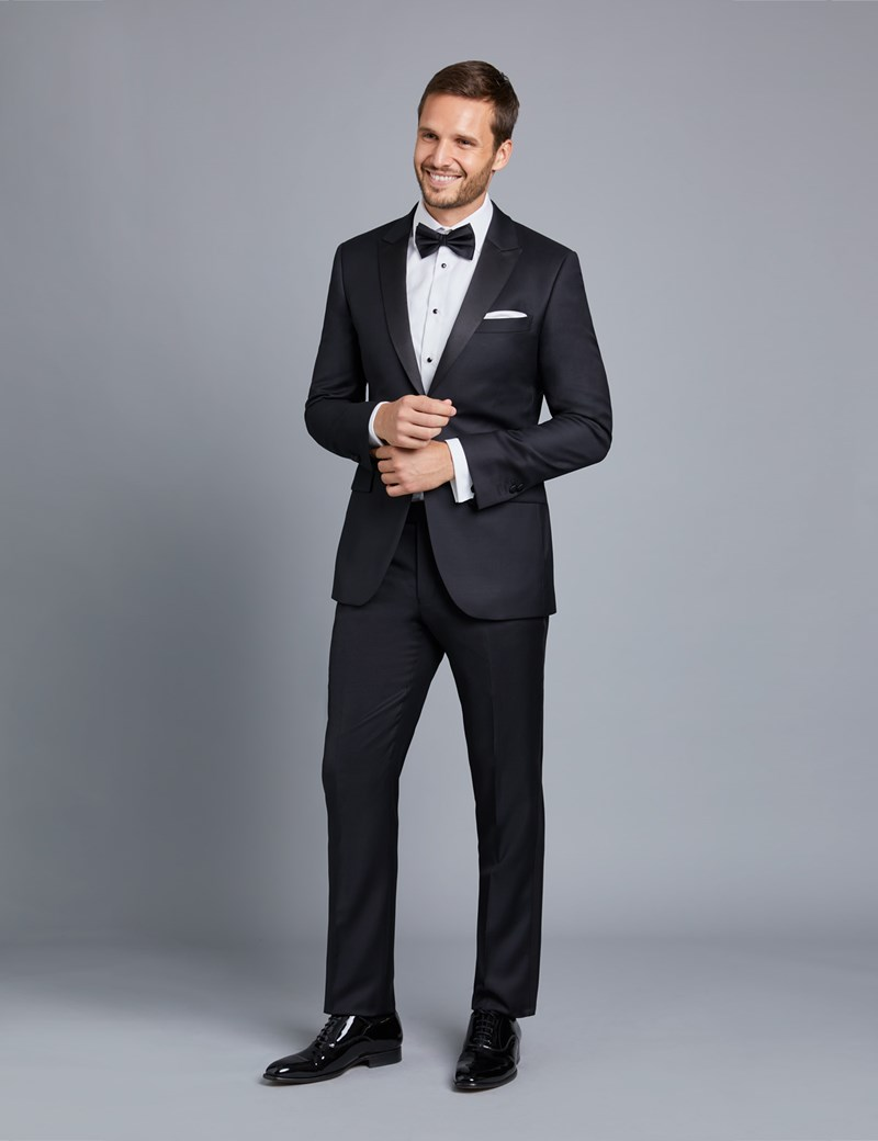Men's Black Slim Fit Dinner Suit