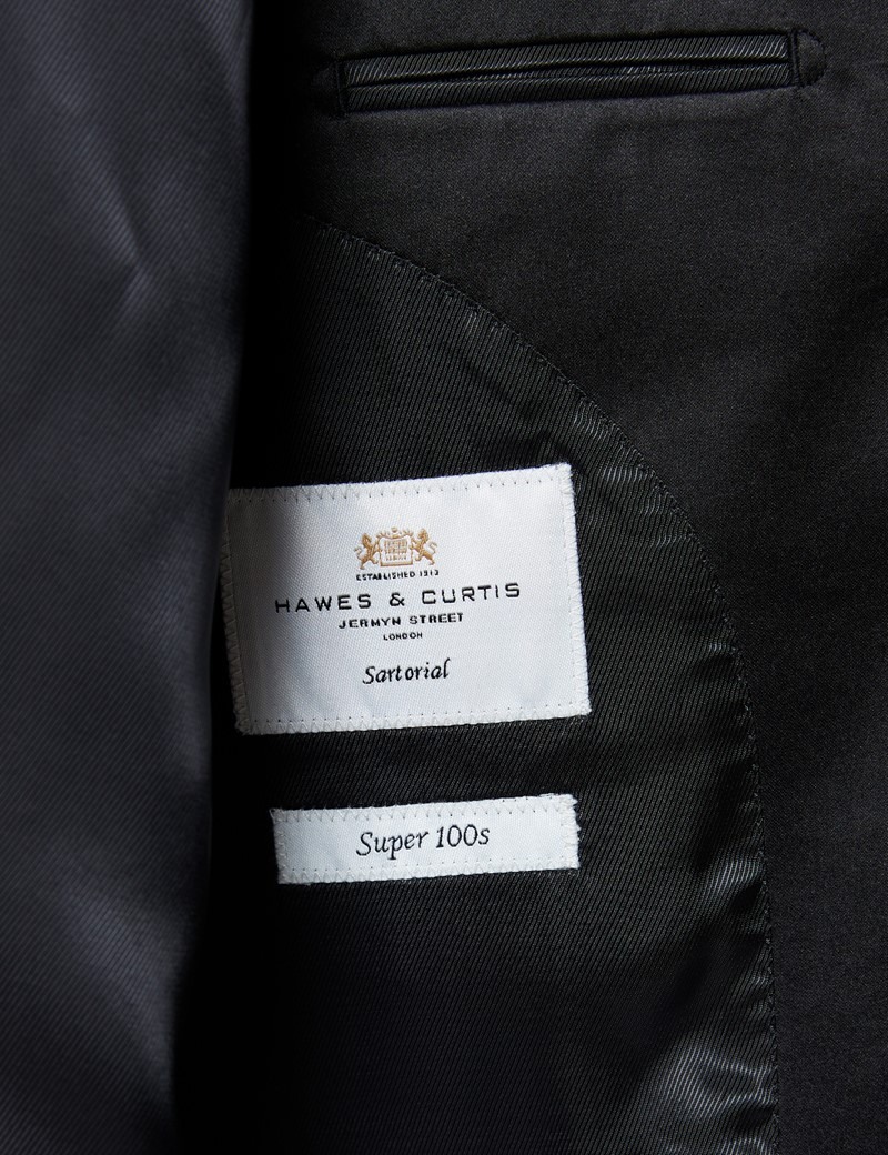 Men's Black Slim Fit Dinner Suit