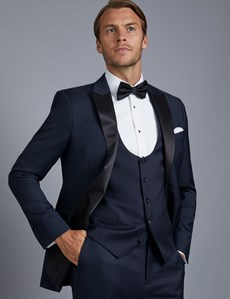 Men's Navy Slim Fit  Dinner Jacket