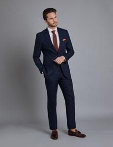 Men's Navy Linen Slim Fit Suit