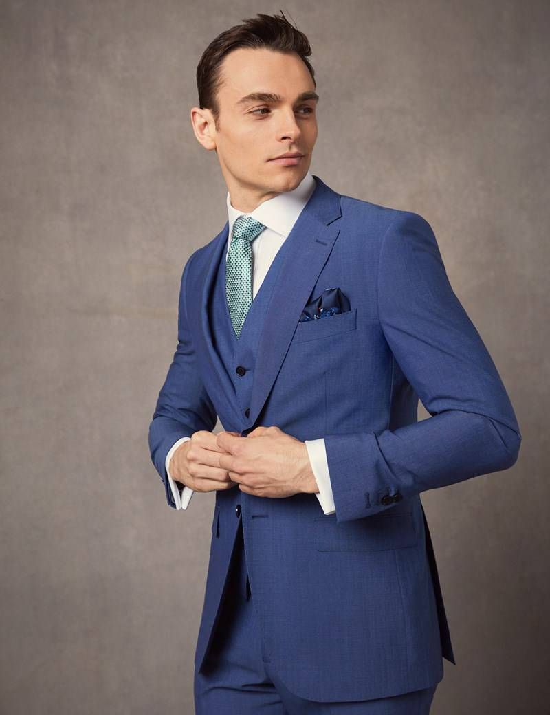 Men's Blue Slim Fit Suit Jacket