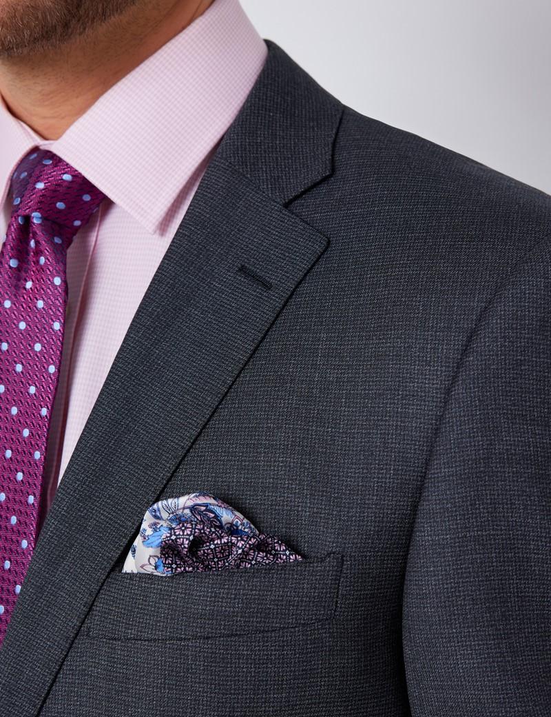 Men's Charcoal Classic Fit Suit Jacket