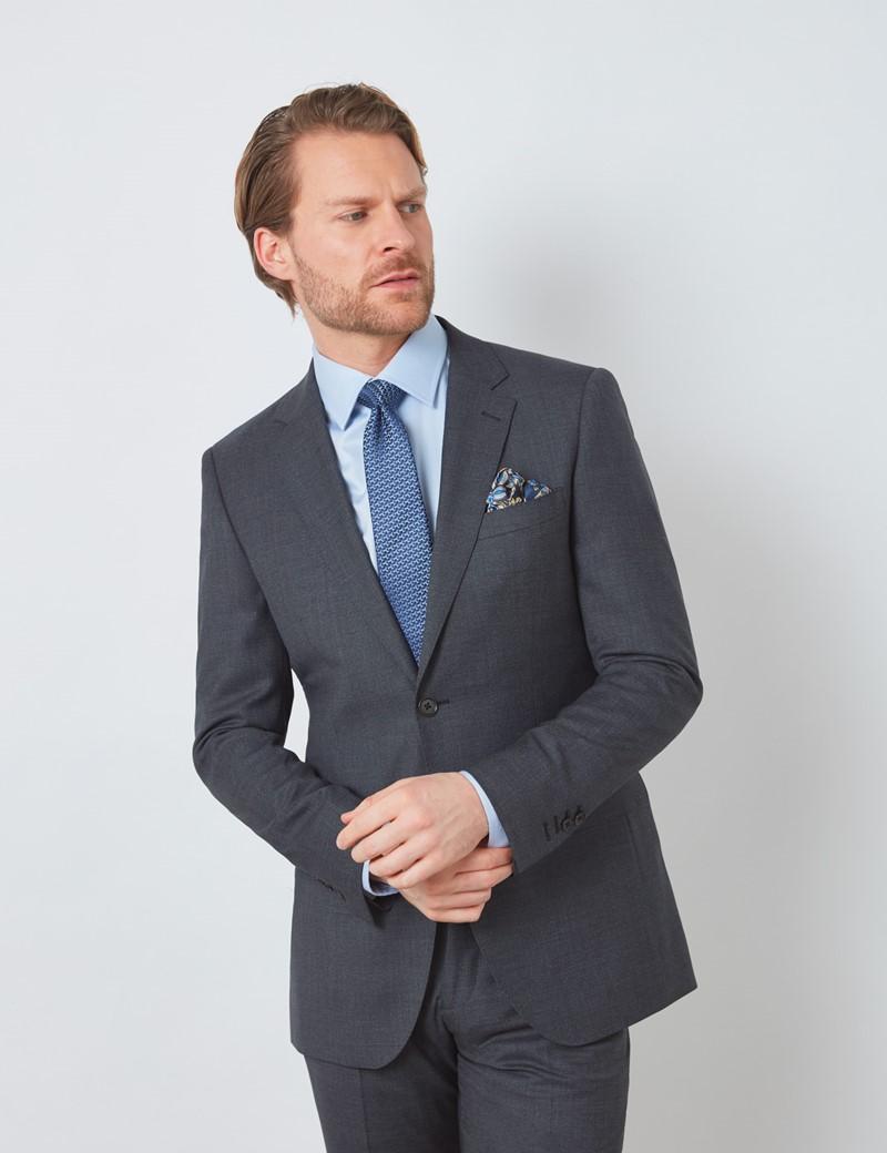Men's Charcoal Slim Fit Suit Jacket