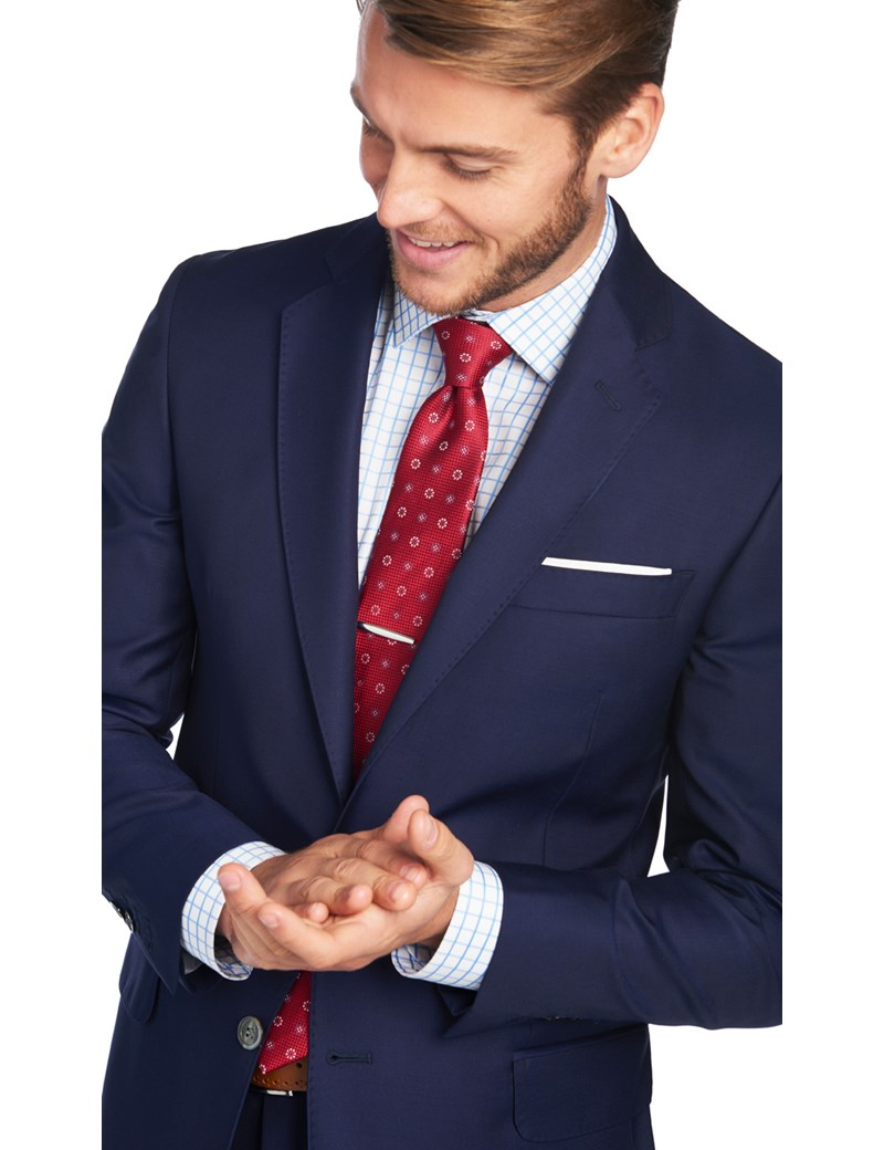 Men's Royal Blue Slim Fit Italian Suit Jacket - 1913 Collection