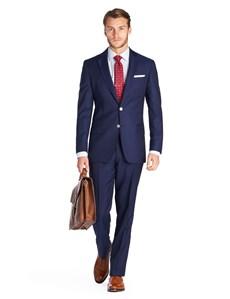 1913 Kollektion – Luxuriöser Anzug aus 140S Schurwolle – Slim Fit – Königsblau