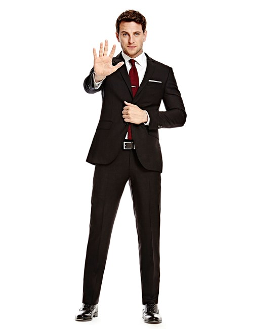 Men's Black Twill Amalfi Classic Fit Suit - Super 120s Wool