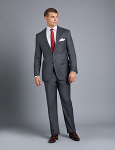 Men's Charcoal Amalfi Twill Classic Fit Suit Jacket