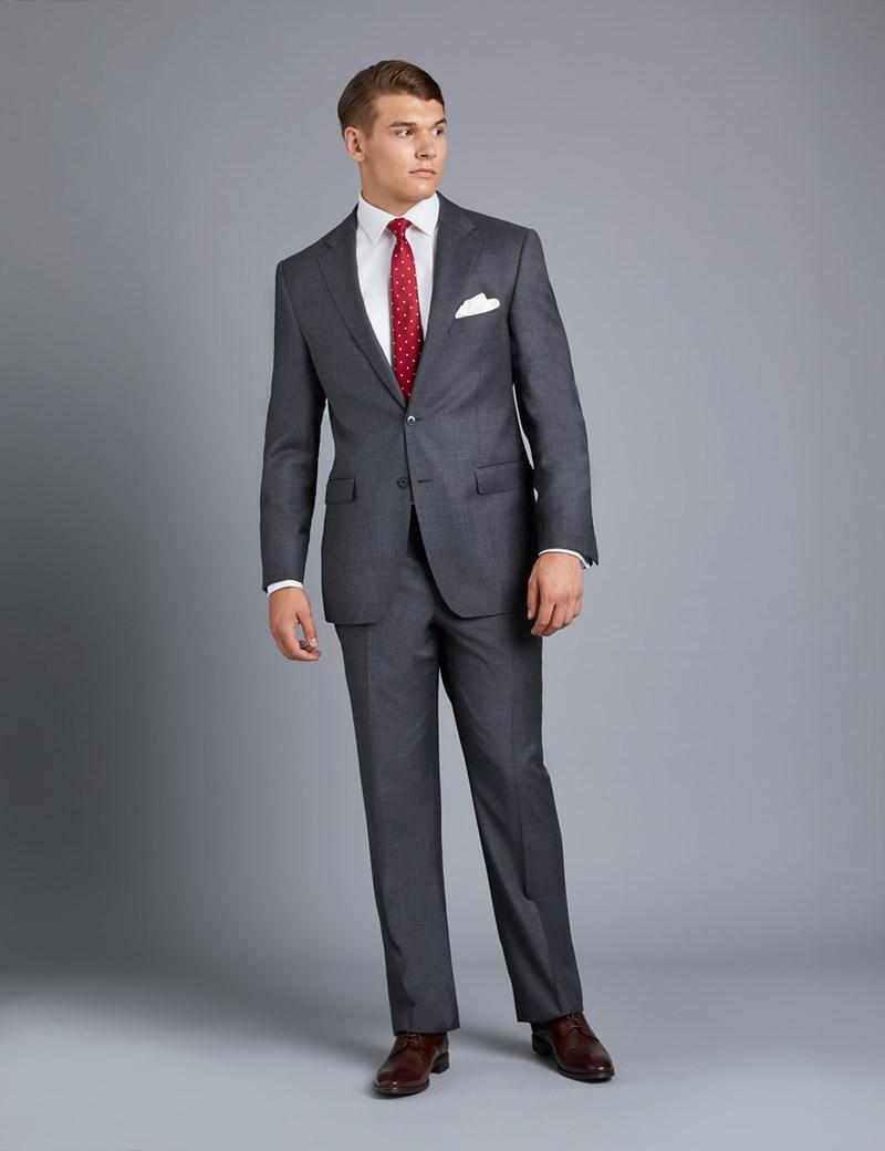 Men's Charcoal Amalfi Twill Classic Fit Suit Jacket