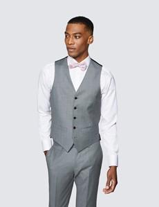 Men's Grey Twill Slim Fit Suit - Super 120s Wool