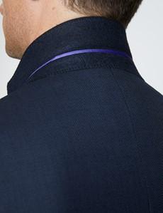 Men's Navy Birdseye Classic Fit Suit jacket - Super 120s Wool