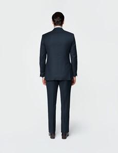 Men's Navy Birdseye Slim Fit Suit Jacket - Super 120s Wool