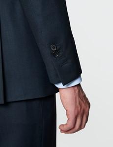 Men's Navy Birdseye Slim Fit Suit - Super 120s Wool