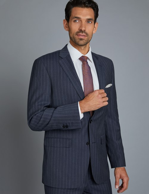 Men's Indigo Chalk Stripe Classic Fit Suit