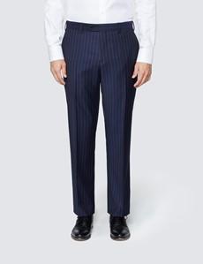 Men's Navy Chalk Stripe Classic Fit Suit