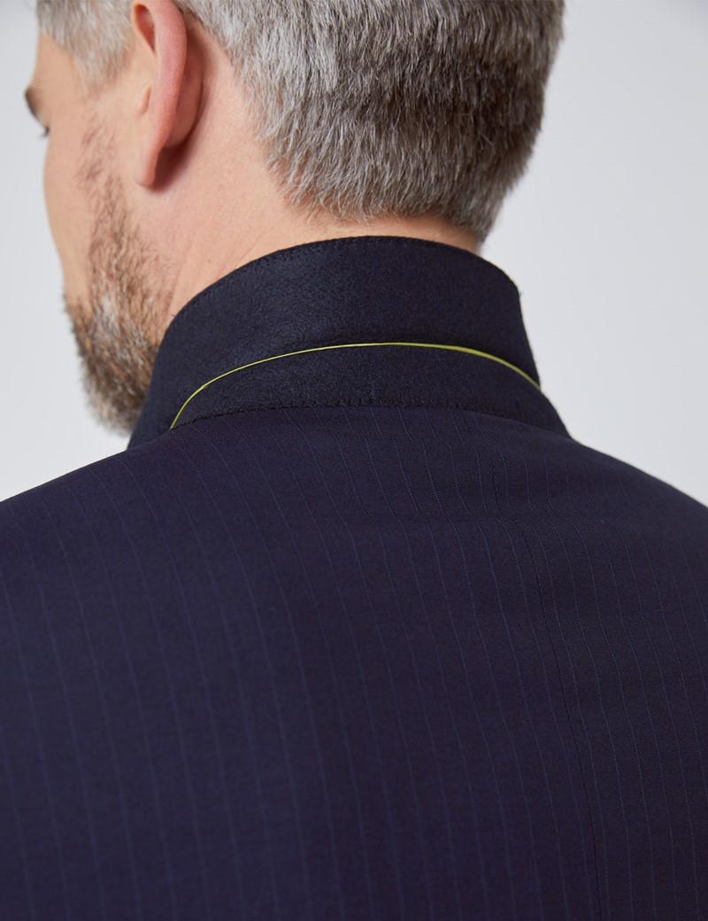 Anzugsakko - Slim Fit - navy Streifen - 100S Wolle - 2-Knopf Einreiher