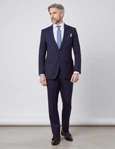 Men's Navy Tonal Stripe Slim Fit Suit