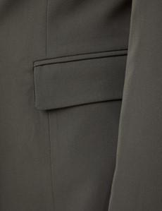 Women's Olive Slim Fit Suit