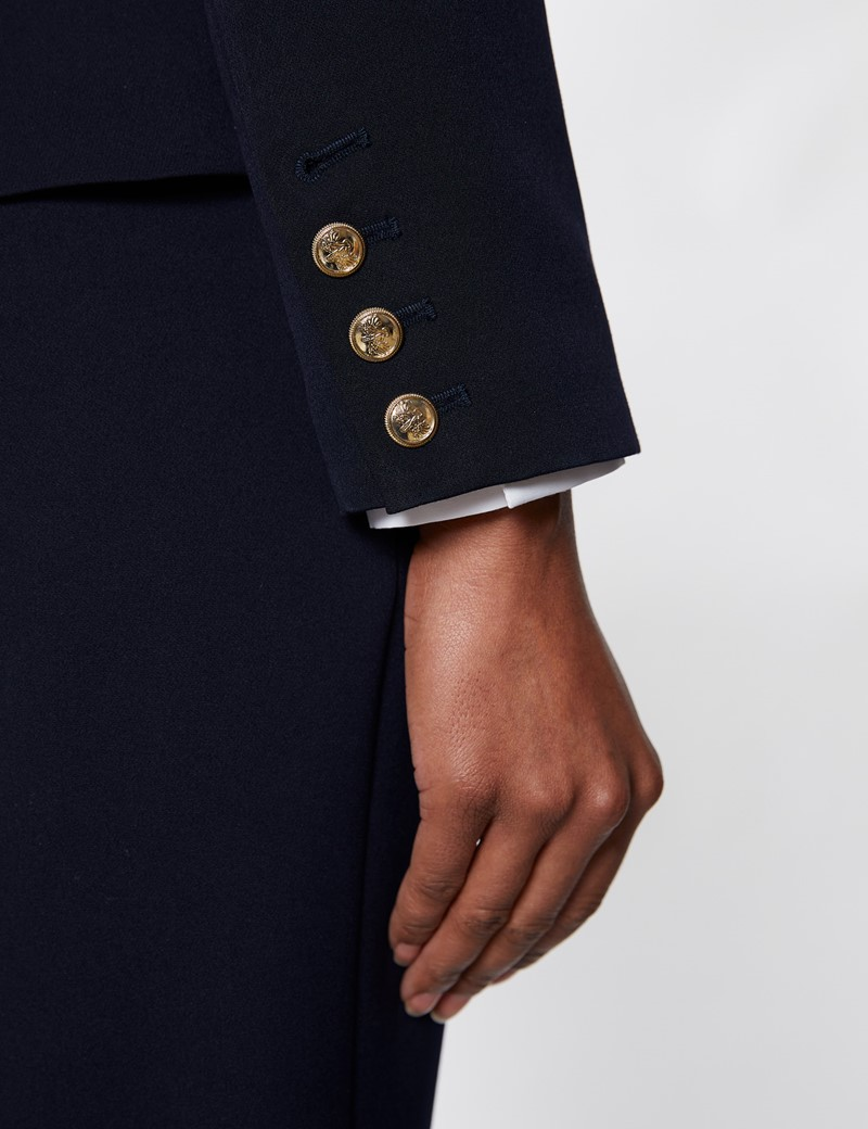 Women's Navy Double Breasted Suit