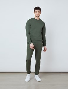 Green Garment Dye Organic Cotton Crewneck Sweatshirt