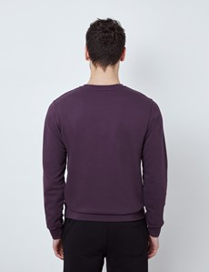 Blackberry Garment Dye Organic Cotton Crewneck Sweatshirt