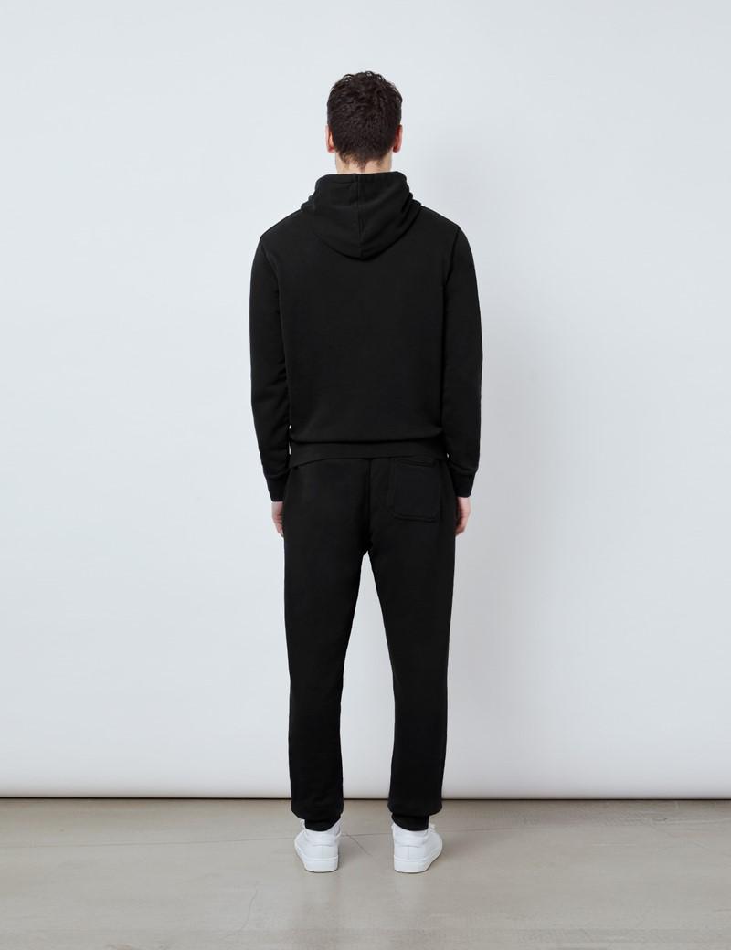 Black Garment Dye Organic Cotton Hooded Sweatshirt