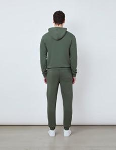Green Garment Dye Organic Cotton Hooded Sweatshirt