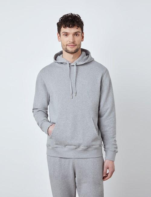 Lounge Hoodie – Kapuzenpullover – Garment Dye – Bio-Baumwolle – Grau