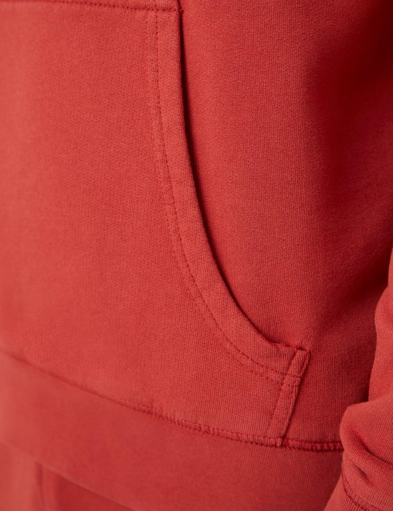 Lounge Hoodie – Kapuzenpullover – Garment Dye – Bio-Baumwolle – Rost Orange