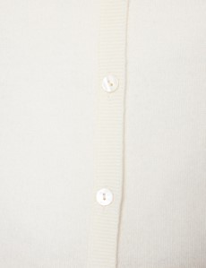 Women's Cream Wool Cashmere Cardigan