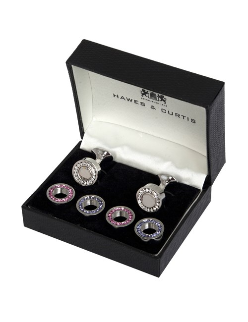 Assorted Crystal Cufflink Set