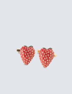 Ladies Strawberry Cufflinks