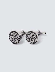 Women's Silver Design Cufflinks