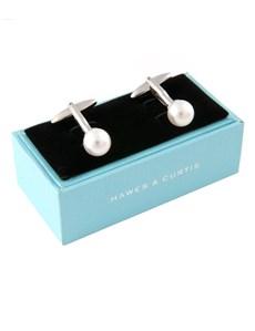 Manschettenknöpfe Damen – Rhodiniert – Swarovski Perle