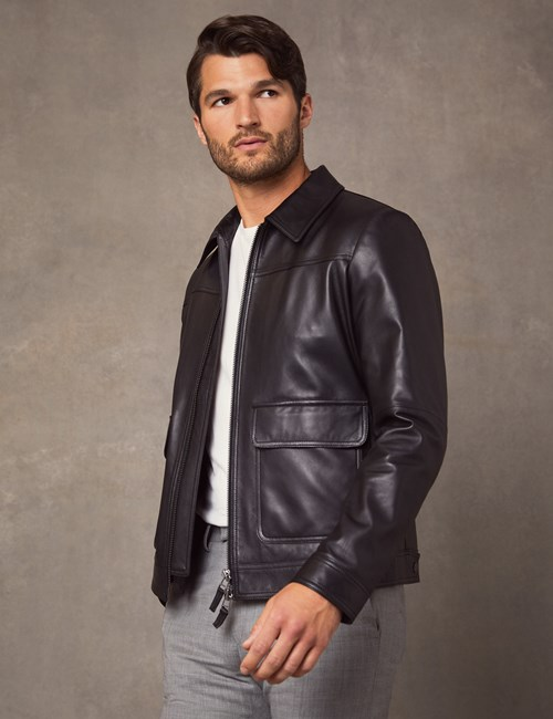 Men's Black Slim Fit Luxury Leather Jacket