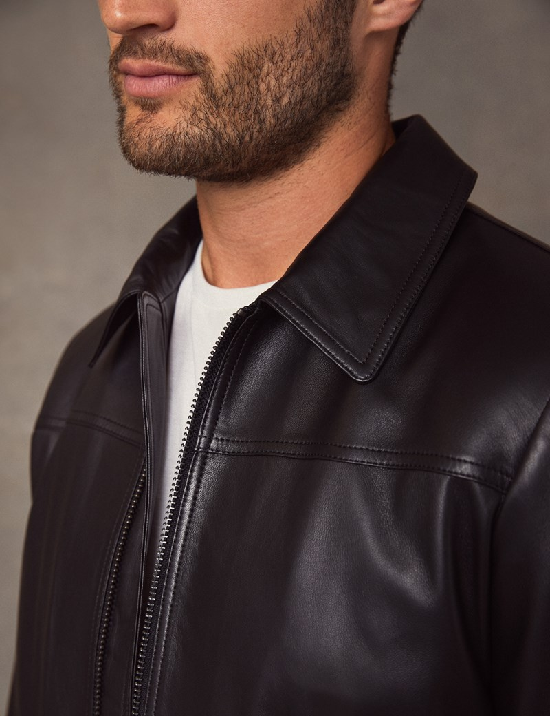 Men's Black Slim Fit Luxury Leather Jacket