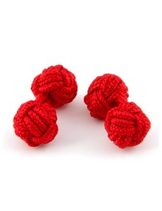 Ladies Plain Red Silk Knot