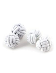 Ladies Plain White Silk Knot
