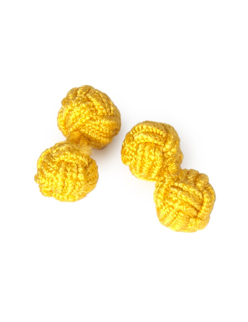 Women's Yellow Silk Knot