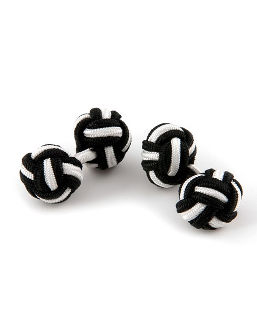 Women's Black & White Silk Knot
