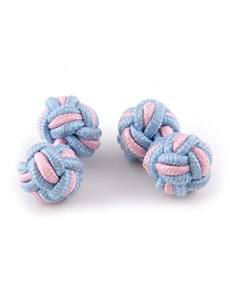 Ladies Blue & Pink Silk Knot