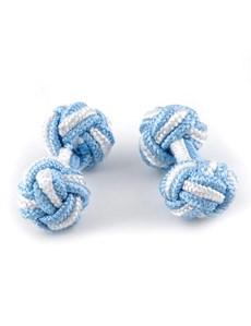 Women's Blue & White Silk Knot