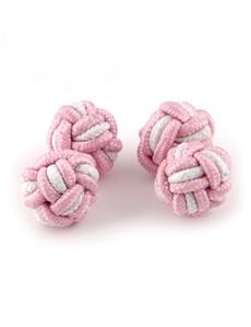 Ladies Pink & White Silk Knot