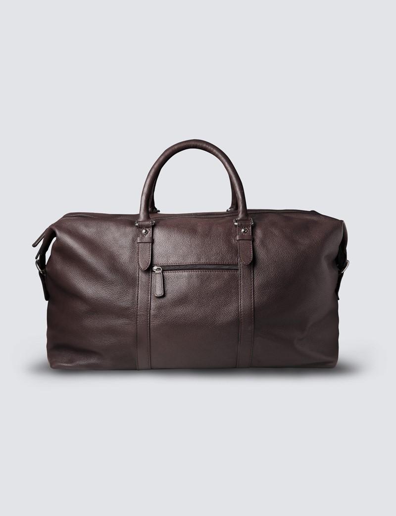 Brown Leather Weekender Holdall