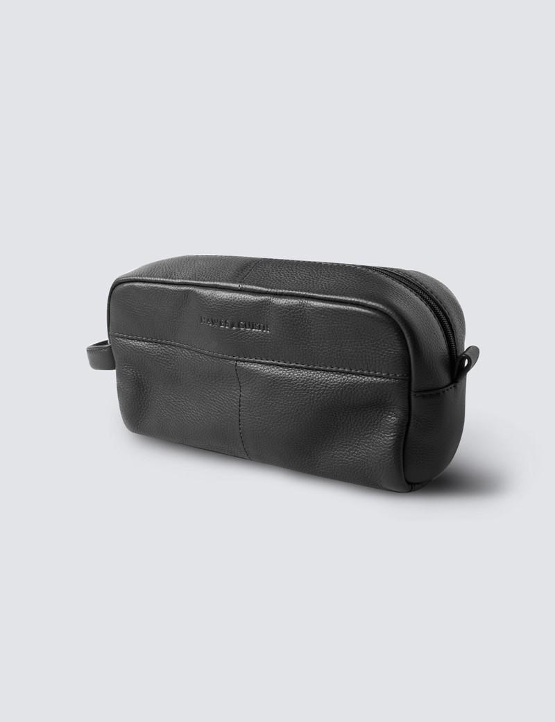 Black Leather WashBag