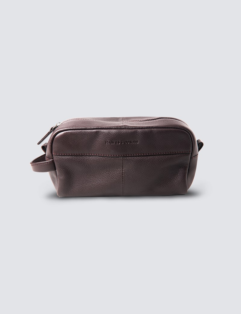 Brown Leather WashBag