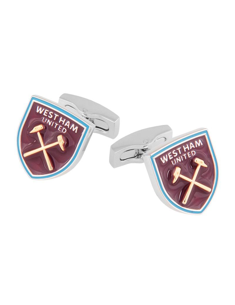 Men's Claret West Ham Shield Cufflinks