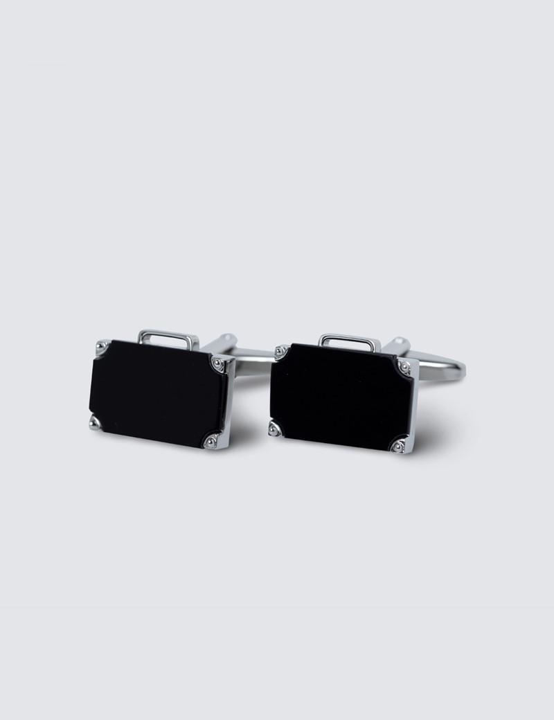 Men's Black Onyx Briefcase Cufflinks