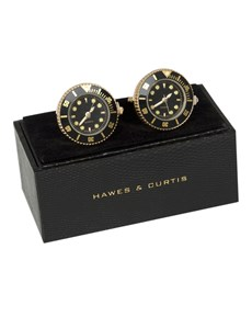 Men's Gold Watch Cufflink
